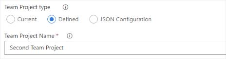 Team project configuration